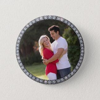 Kundenspezifischer Fotoknopf Bling Ringes Runder Button 5,1 Cm