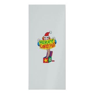 Kundenspezifischer frohe Weihnacht-Jack in einem 10,2 X 23,5 Cm Einladungskarte