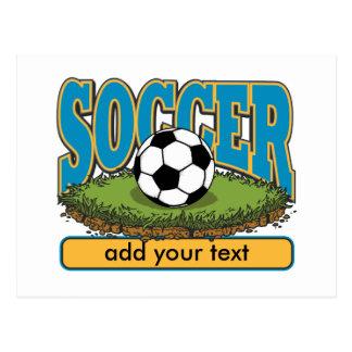Kundenspezifischer Fußball addiert Text Postkarte
