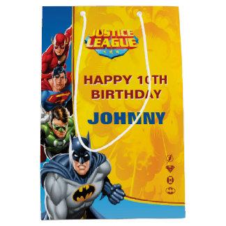 Kundenspezifischer Gerechtigkeits-Liga-Geburtstag Mittlere Geschenktüte