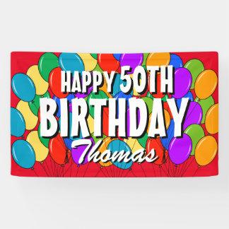 Kundenspezifischer glücklicher 50. Geburtstag Banner