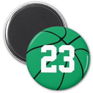 Kundenspezifischer grüner Basketball-runder Runder Magnet 5,1 Cm