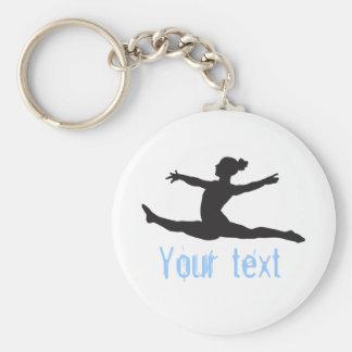Kundenspezifischer Gymnastik-Tanz-Beifall Schlüsselanhänger