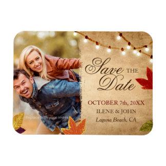 Kundenspezifischer Herbst, der Save the Date Magnet