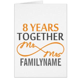 Kundenspezifischer Herr und Frau 8h Jahrestag Grußkarte