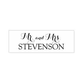 Kundenspezifischer Herr und Frau Wedding Stamper Permastempel