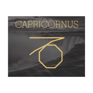 Kundenspezifischer Hintergrund des Capricornus Leinwanddruck