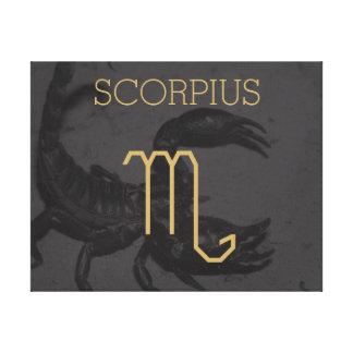 Kundenspezifischer Hintergrund des Scorpius Leinwanddruck