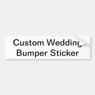 Kundenspezifischer Hochzeits-Autoaufkleber Autoaufkleber