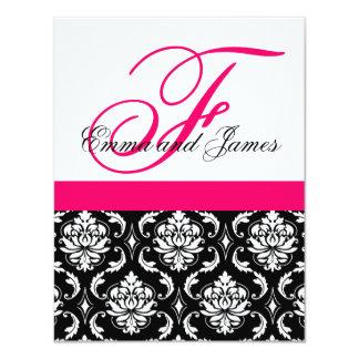 Kundenspezifischer Hochzeits-Einladungs-Monogramm 10,8 X 14 Cm Einladungskarte