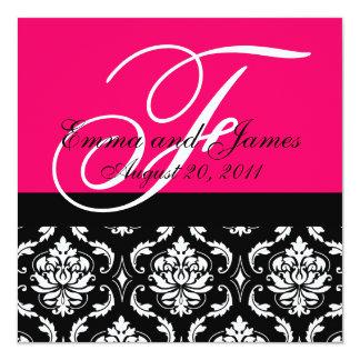 Kundenspezifischer Hochzeits-Einladungs-Monogramm Quadratische 13,3 Cm Einladungskarte