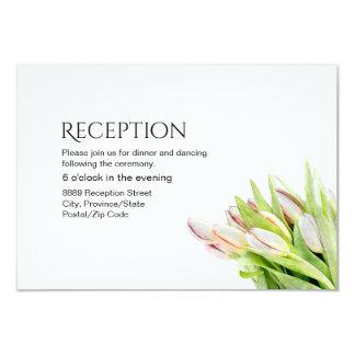 Kundenspezifischer Hochzeits-Empfang, Tulpe Karte