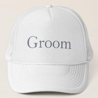 Kundenspezifischer Hut für den Bräutigam, die Truckerkappe