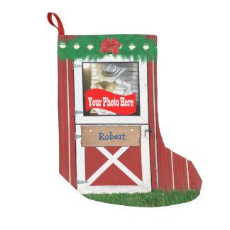 Kundenspezifischer (Ihr Foto-) Kleiner Weihnachtsstrumpf