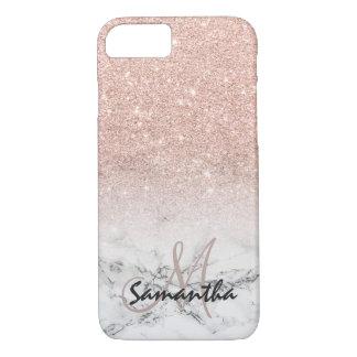 Kundenspezifischer Imitat-Rosenrosa-Glitter ombre iPhone 8/7 Hülle