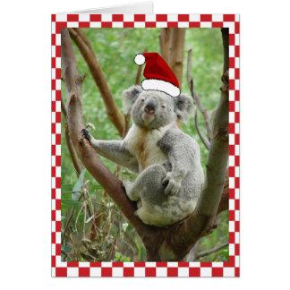 Kundenspezifischer Koala Sankt-Kappen-Foto-in der Karte