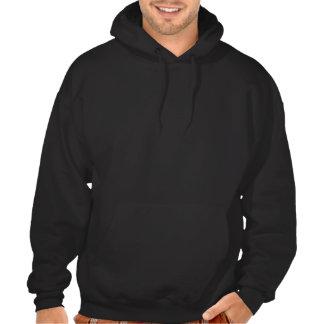 Kundenspezifischer Kochs-Schädel mit loderndem Kapuzensweatshirt