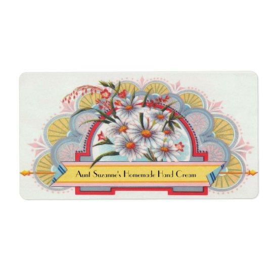 Kundenspezifischer Kunst-Deko-Blumenaufkleber Versandetikett