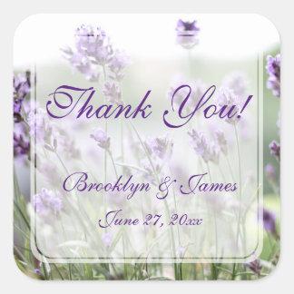 Kundenspezifischer Lavendel-böhmische Gastgeschenk Quadrat-Aufkleber