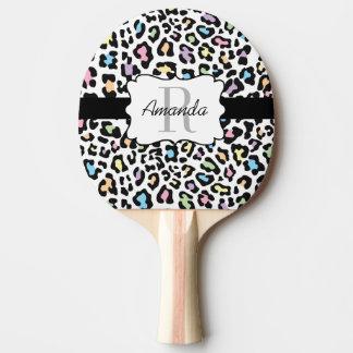Kundenspezifischer Leopard-multi FarbKlingeln Pong Tischtennis Schläger