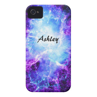 Kundenspezifischer lila blauer Galaxie iPhone 4 iPhone 4 Cover