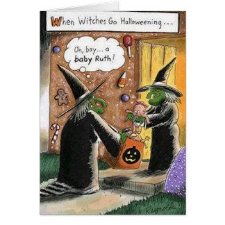 Kundenspezifischer lustiger Hexe-Trick oder Karte