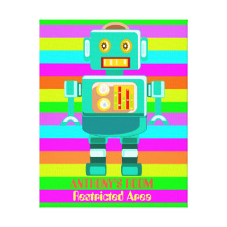 Kundenspezifischer mehrfarbiger Roboter Leinwanddruck