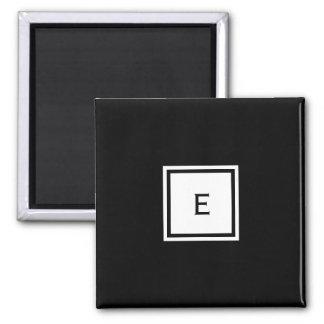 Kundenspezifischer mit Monogramm Quadratischer Magnet