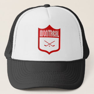 Kundenspezifischer Montreal-Schild-Entwurf Truckerkappe