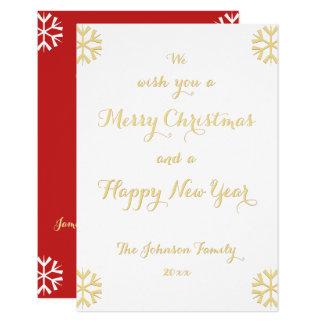 Kundenspezifischer personalisierter Weihnachtsneue Karte