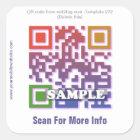 Kundenspezifischer QR Codeaufkleber (QR Quadratischer Aufkleber