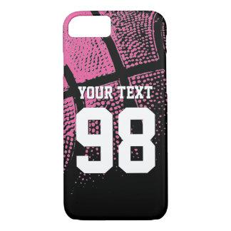 Kundenspezifischer rosa Basketball Jerseyzahl iPhone 7 Hülle