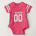 Kundenspezifischer rosa Fußball Babybody