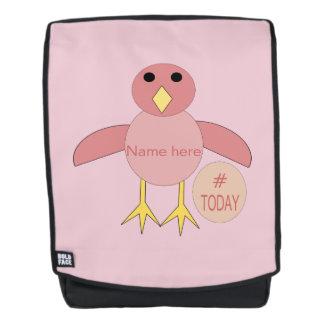 Kundenspezifischer rosa rucksack
