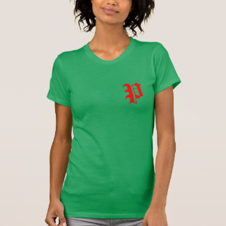 kundenspezifischer roter grüner T-Shirt