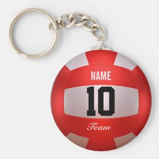 Kundenspezifischer roter Volleyball Schlüsselanhänger