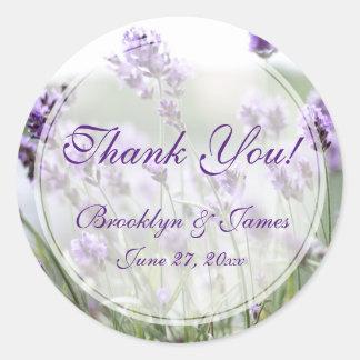 Kundenspezifischer runder Lavendel-böhmische Runder Aufkleber