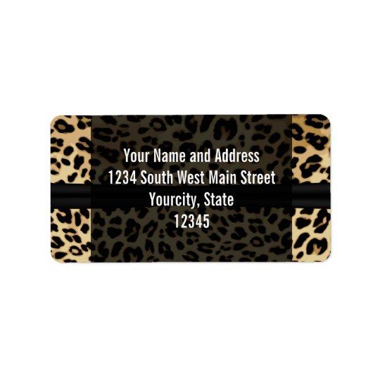 Kundenspezifischer schwarzer adressaufkleber