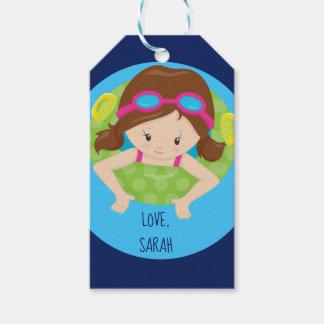 Kundenspezifischer Schwimmen-Mädchen-Schwimmer Geschenkanhänger