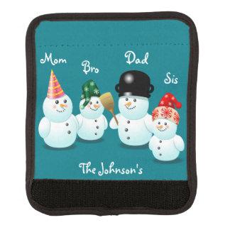 Kundenspezifischer Snowman-Familien-Cartoon Gepäckgriff Marker