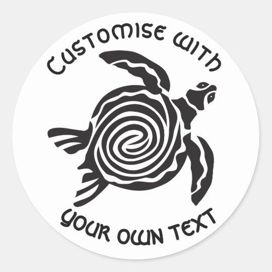 Kundenspezifischer Stammes- Schildkröte-Entwurf Runder Aufkleber