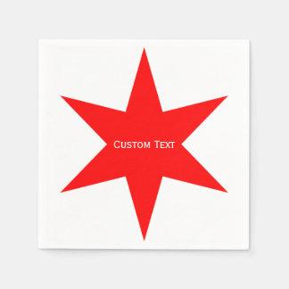 Kundenspezifischer Stern Chicago-Flaggen-6-Pointed Serviette