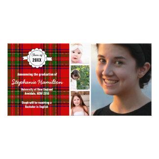 Kundenspezifischer Tartan-Foto-Abschluss Photokarten