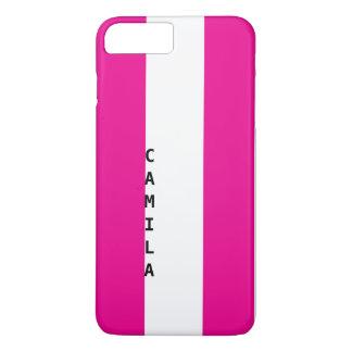 Kundenspezifischer Telefonkasten mit Namen   rosa iPhone 8 Plus/7 Plus Hülle