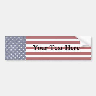 Kundenspezifischer Text-amerikanische Autoaufkleber