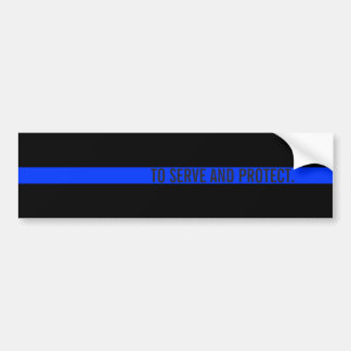 Kundenspezifischer Text-dünne blaue Linie Autoaufkleber