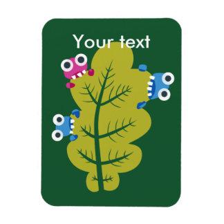 Kundenspezifischer Text-niedliche Wanzen essen Magnet