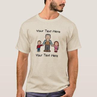 Kundenspezifischer Text-Pixel-Großvater T-Shirt