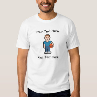 Kundenspezifischer Text-Pixel-Zug Tshirts