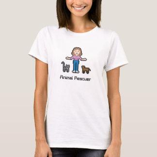 Kundenspezifischer Tier-Retter des Text-8bit T-Shirt